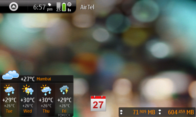 N900 homescreen #1