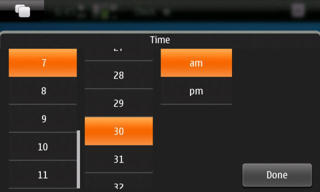 N900 Alarm setting