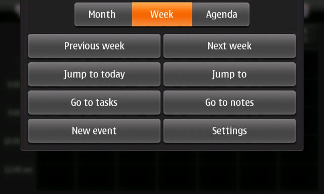 N900 Calendar Options