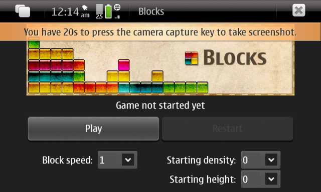 N900 Blocks Game